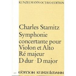 Stamitz, Karl: Sinfonia concertante D-Dur : für Violine, Viola und Orchester Partitur