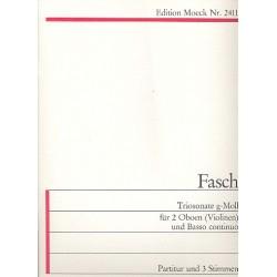 Fasch, Johann Friedrich: Triosonate g-Moll : f├╝r 2 Oboen (Violinen) und Bc Partitur und 3 Stimmen