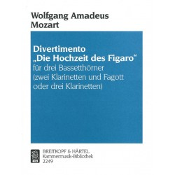 Mozart, Wolfgang Amadeus: Divertimento Dir Hochzeit des Figaro : f├╝r 3 Bassetth├Ârner Stimmen
