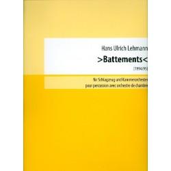 Lehmann, Hans Ulrich: Battements : für Schlagzeug und Kammerorchester Partitur