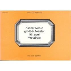 Kleine Werke großer Meister Band 4 : für 2 Melodicas Partitur