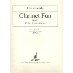Searle, Leslie: Clarinet Fun vol.3 für 3 Klarinetten und Harmonie/Rhythmusinstrument Harmonie- / Rhythmusstimme