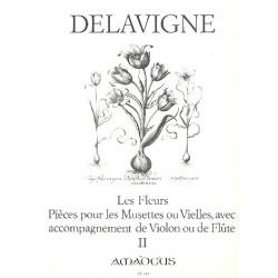 Lavigne, Philibert de: Les Fleurs op.4 Band 2 : pieces pour les musettes ou vielles avec acc. de viol partitur