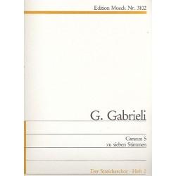 Gabrieli, Giovanni: Canzon 5 : für 7 Stimmen Partitur und Stimmen