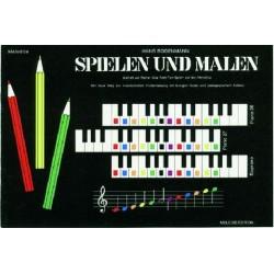 Bodenmann, Hans: Spielen und Malen : Beiheft zur Reihe das Farbtonspiel auf der Melodica