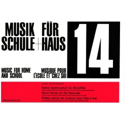 Bodenmann, Hans: Musik f├╝r Schule und Haus Band 14 : Kleine Spielmusiken f├╝r Blockfl├Âte oder andere Melodieinstrumente