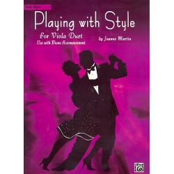 Martin, Joanne: Playing with Style : for 2 violas and piano viola score