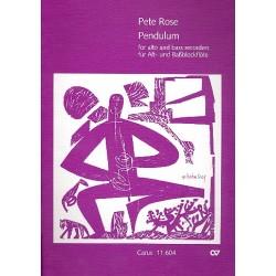 Rose, Peter: Pendulum : für Alt- und Baßblockflöte