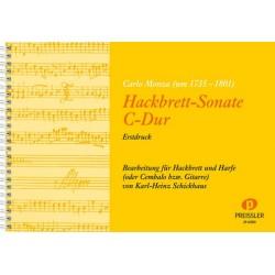 Monza, Carlo: Sonate C-Dur : für Hackbrett und Volksharfe (Cembalo)