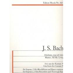 Bach, Johann Sebastian: Höchster was ich habe : Arie aus der Kantate BWV39 : für 3 Blockflöten (SAA) und Bc, Partitur und