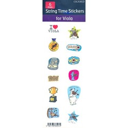 String Time Stickers : for viola 6 sheets (each with 12 stickers)