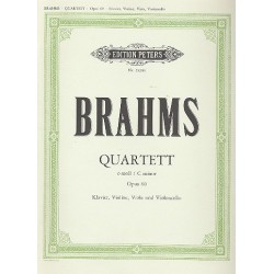 Brahms, Johannes: Quartett c-Moll für Klavier und Streichtrio
