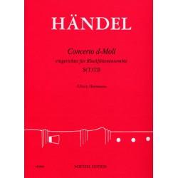 Händel, Georg Friedrich: Concerto d-Moll nach op.3,5 : für Blockflötenensemble (ST(T)B) Partitur und Stimmen