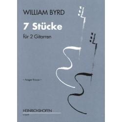 Byrd, William: 7 Stücke : für 2 Gitarren