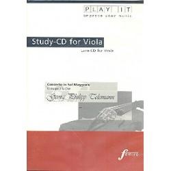 Telemann, Georg Philipp: Konzert G-Dur : für Viola und Klavier Playalong - CD