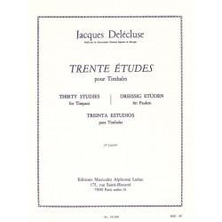 Delécluse, Jacques: 30 Études vol.2 : pour timbales (fr/dt/en/sp)
