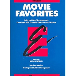 Movie Favorites : for band percussion