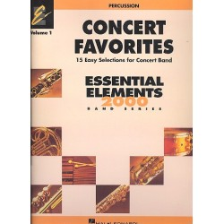 Concert Favorites vol.1 : for concert band percussion