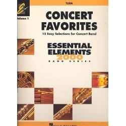 Concert Favorites vol.1 : for concert band tuba