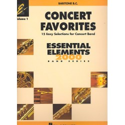 Concert Favorites vol.1 : for concert band for bariton bass clef