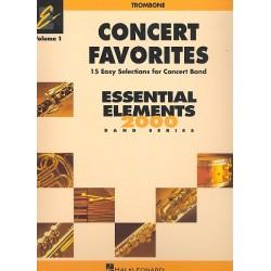 Concert Favorites vol.1 : for concert band trombone