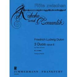 Dulon, Friedrich Ludwig: 3 Duos op.6 Band 3 (Nr.3) : Duo d-Moll für Flöte und Viola