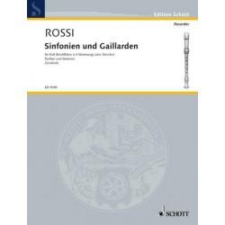 Rossi Hebreo, Salomon: Sinfonien und Gaillarden : für 5 Blockflöten (SSATB) Partitur und Stimmen