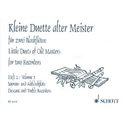Kleine Duette alter Meister Band 2 : f├╝r 2 Blockfl├Âten (SA)