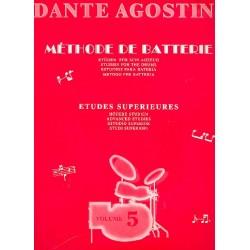 Agostini, Dante: Méthode de batterie vol.5 études superieurs