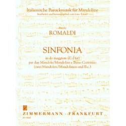 Romaldi, Nicolo: SINFONIA C-DUR : FUER 2 MANDOLINEN UND BC STIMMEN TOTARO, LINO, ED