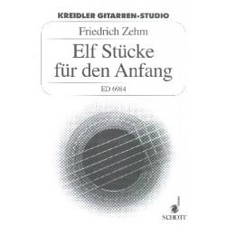 Zehm, Friedrich: 11 Stücke für den Anfang : für 2-3 Gitarren Spielpartitur