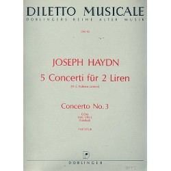 Haydn, Franz Joseph: Konzert G-Dur Nr.3 Hob.VIIh:3 für 2 Altblockflöte und Orchester Partitur