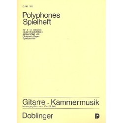 POLYPHONES SPIELHEFT FUER 2-4 GITARREN BAYER,ELISABETH,HERAUSG