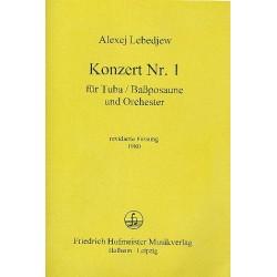 Lebedev, Alexej: Konzert Nr.1 : für Tuba (Bassposaune) und Orchester Partitur