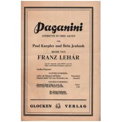 Lehár, Franz: Niemand liebt dich so wie ich aus der Operette Paganini: für Salonorchester