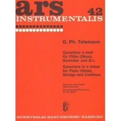 Telemann, Georg Philipp: Ouvertüre e-Moll für Flöte (Oboe), Streicher und Bc für Flöte und Kklavier