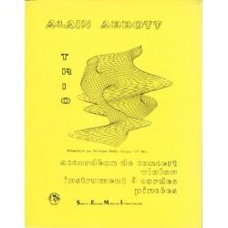 Abbott, Alain: Trio für Akkordeon, Violine und Streicher Partitur