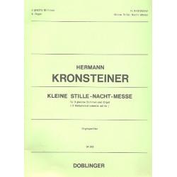 Kronsteiner, Hermann: Kleine Stille-Nacht-Messe f├╝r 3 gleiche Stimmen und Orgel Orgelpartitur