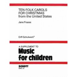 MUSIC FOR CHILDREN: 10 chorals for christmas FRAZEE, JANE, ED SCORE