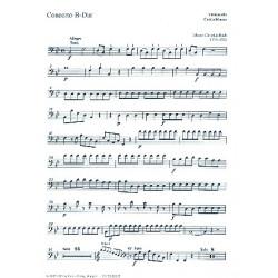 Bach, Johann Sebastian: Konzert B-Dur : für Orgel, 2 Violinen und Bc Cello / Baß