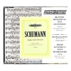Schumann, Robert: 3 Romanzen op.94 : CD mit der Klavierbegleitung zur Solostimme