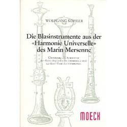 Die Blasinstrumente aus der Harmonie universelle des Marin Mersenne