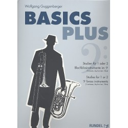 Guggenberger, Wolfgang: Basics Plus für 1-2 Blechblasinstrumente im Bassschlüssel (dt/en)