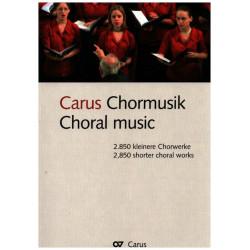 Carus Chormusik : 2850 kleinere Chorwerke (jeweils erste Seite)