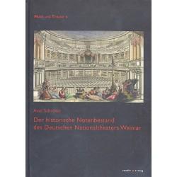 Schröter, Axel: Der historische Notenbestand des Deutschen Nationaltheaters Weimar