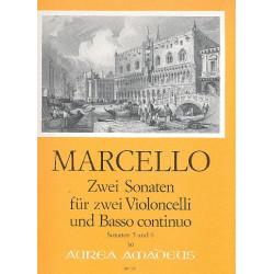 Marcello, Benedetto: 2 Sonaten : f├╝r 2 Violoncelli und Bc