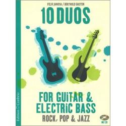 Janosa, Felix: 10 Duos (+CD) : f├╝r Gitarre und E-Bass Spielpartitur in Noten/Tabulatur