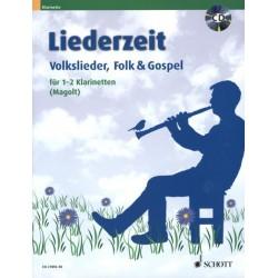Liederzeit (+CD) : für 1-2 Klarinetten Spielpartitur