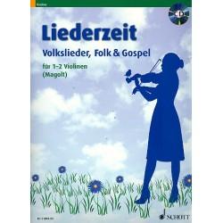 Liederzeit (+CD) : für 1-2 Violinen Spielpartitur