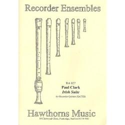 Clark, Paul (recorder): Irish Suite for 5 recorders (SATTB), score and parts